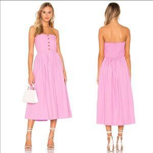 NWT Free People Lilah Pleated Midi Dress